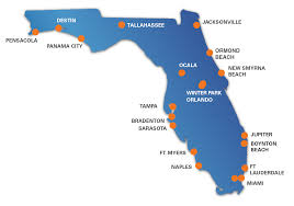 Miami Orlando Map by Offices