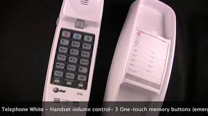 cortelco wall mount phone at u0026t 210 basic corded wall telephone white from smithgear com