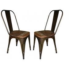 chaise m tallique chaises metallique assise bois style bistrot prix