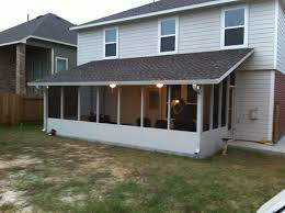 Backyard Screen House by Insulated Screen Room With Shingles In Baytown A 1