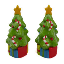 ceramic christmas tree trim a home ceramic christmas tree salt and pepper shakers