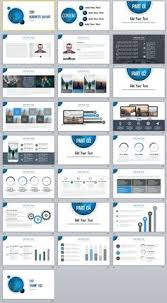 30 blue creative charts report powerpoint template ppt