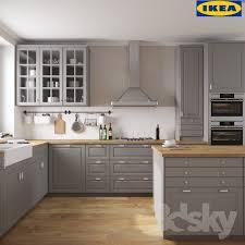 cuisine ikea 3d cuisine ikea bodbyn unique 3d models kitchen ikea bodbyn image les