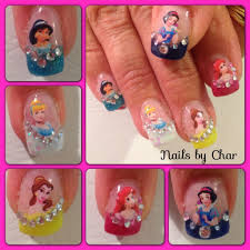 disney princess nails by char char u0027s nails pinterest