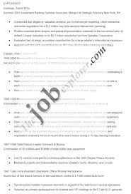 Banking Resume Sample by 100 Business Analyst Investment Banking Resume Resume