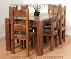 rustic farm table chairs 50 rustic dining room table sets 24 totally inviting rustic dining