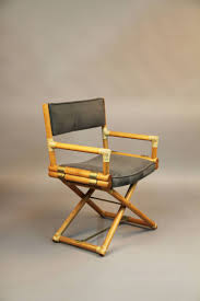 The Directors Chair On The Set Set Of Six Mcguire Directors Chairs Oak Safari Style At 1stdibs