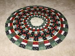 Peppermint Twist Tree Skirt Using 10 Degree Wedge Ruler Tree Skirt Tree Skirts Tree