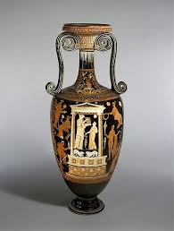 Classical Vases Attributed To The Metope Painter Terracotta Loutrophoros