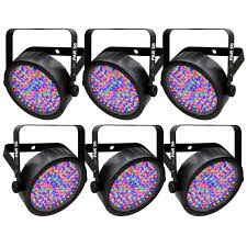 chauvet slimpar 56 led light chauvet dj slimpar 56 par style rgb led lighting fixture 6 pack ebay
