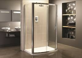 3 sided shower enclosure with sliding door youtube