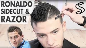 Mens Hairstyles With Line by Cristiano Ronaldo Hairstyle 2012 Sidecut With Razored Partning
