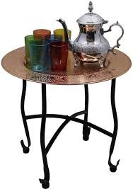 moroccan tea table stand souq moroccan tea serving tray set 1 teapot and 6 glasses with