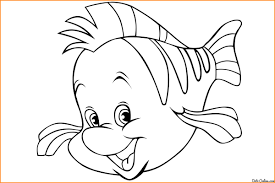 the little mermaid coloring pages flounder jpg