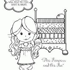 princess pea coloring page coloring home