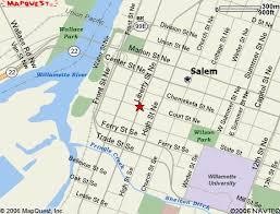 map of downtown salem oregon oregon map