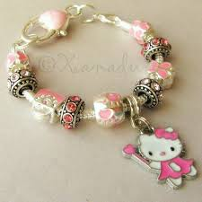 beads charm bracelet images Pink hello kitty fairy princess european charm bracelet with pink JPG