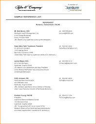 professional references page template resume cover letter example