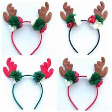 christmas hair accessories boutique christmas hair bands reindeer headband baby
