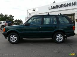 land rover racing 1997 british racing green metallic land rover range rover hse