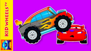 bigfoot presents meteor and the mighty monster trucks spiders monster truck cartoons for children and kids animation