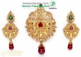 ruby drop earrings 22k gold diamond pendant drop earrings set with ruby emerald
