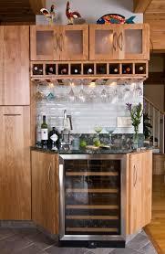 kitchen cabinet wine rack with glass storage wooden wine glass