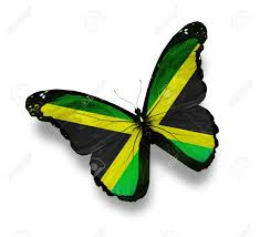 Colors Of Jamaican Flag Jamaican Flag Butterfly Isolated On White Stock Photo Picture
