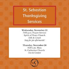 thanksgiving services sebastian
