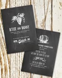 vineyard wedding invitations vineyard chalkboard wedding invitation ink wedding invitations