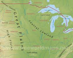 United States Map With Lakes And Rivers by Midwest Maps Outline Map Of Midwest States With Maps Update