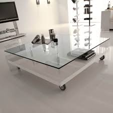 Square Glass Table Top Living Room Beautiful Square Glass Coffee Table Decor With
