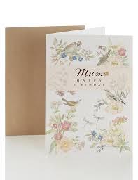 mum birthday card m u0026s