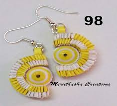 handmade paper earrings buy handmade paper earring from meruthusha exports india id
