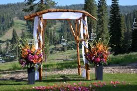 wedding arch log log wedding arch crux events