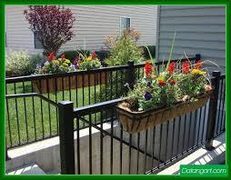 metal deck railing planters design and ideas