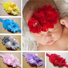 flowers for headbands wholesale children headbands shabby chic flowers satin ribbon
