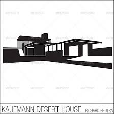 silhouettes of iconic modern houses by es gi tau graphicriver