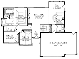 open floor plan house open house plans open plan ranch hwbdo13304 ranch house plan