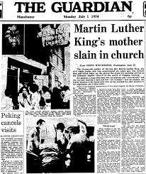 martin luther king u0027s mother slain in church from the archive 1