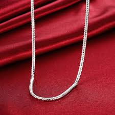 mens necklace chains silver images 4mm 20inch snake necklace silver simple chain men necklace jewelry jpg