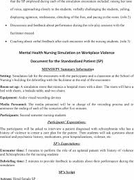 implementing a workplace violence simulation for undergraduate