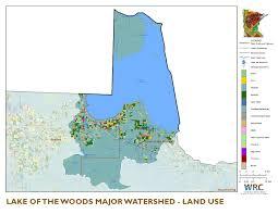 Lake Winnebago Map Lake Of The Woods Watershed Minnesota Nutrient Data Portal