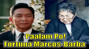 biography of ferdinand marcos fortuna marcos barba youngest ferdinand marcos sibling pumanaw na