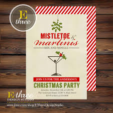 mistletoe and martinis christmas party invitation holiday party