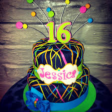 neon cake glow party pinterest neon cakes neon and cake