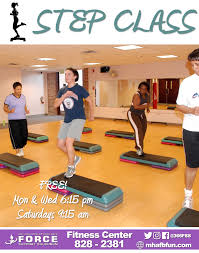 step class dvd fitness sports center mountain home air base