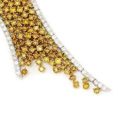 yellow diamonds necklace images Gia fancy yellow diamond hourglass necklace 18k gold 14 81ctw jpg