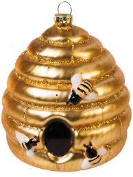 glass bee skep ornament unique ornaments