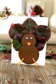 thanksgiving card for kids fall leaf turkey craft for kids and cards